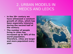 Urban Growth and explanation of other variables in Urban Centers