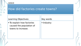 Year 8: How did factories create towns?