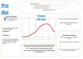 Marketing mix - Product worksheet