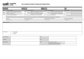 UAL Level 2 Assessment Sheet