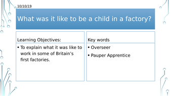 Year 8: What was it like to be a child in a factory?
