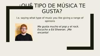 ¿Qué tipo de música te gusta?