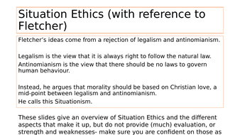 Overview of Situation Ethics