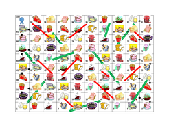 Food Slides and Ladders Game