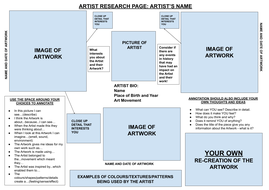Artist/Designer Research - Get started