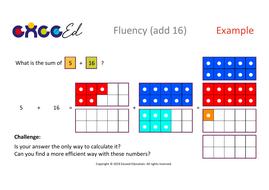 Fluency: Bridging (add 16 with Numicon)