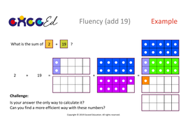 Fluency: Bridging (add 19 with Numicon)