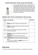 AfL tasks for all Chemistry topics of AQA GCSE Combined Science:Trilogy WITH MODEL ANSWERS