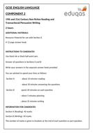 NEW EDUQAS GCSE ENGLISH LANGUAGE COMPONENT 2 PRACTICE EXAMINATION PAPER (NON-FICTION and TRANSACTION
