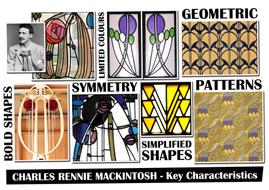 Charles Rennie MacKintosh Tile Design Worksheet and Inspiration