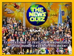 The News Quiz 14th October - 4th November 2019 Form Tutor Time Current Affairs