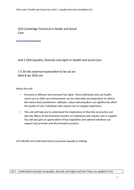 OCR Technical Unit 2 Equality and Diversity. LO1 Knowledge book