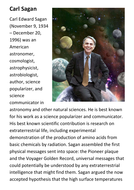 Carl Edward Sagan Handout