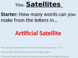 KS3 Satellites