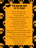 Halloween poster of a T.S.Eliot poem