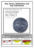 A Level The Rise & Fall of Fascist Italy c.1911-46 Key words definitions & Key Individuals Booklet