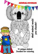 Mindfulness Colouring - 35 Animals