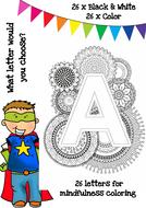 Mindfulness Colouring - Alphabet