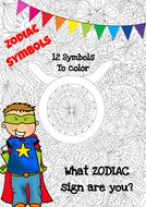 Mindfulness Colouring - Zodiac Symbols