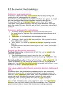 A-level Economics AQA Unit 1 notes summary