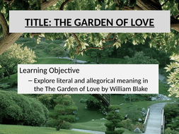 The Garden of Love Blake