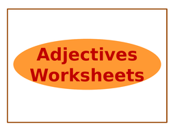 adjectives-worksheets-only.pptx