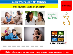 PSHE lessons - how can I handle my emotions?