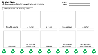 recyling-primary-french-worksheet.pptx