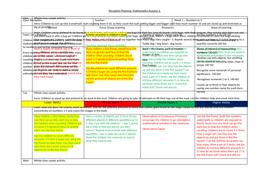 EYFS Reception Planning Maths Autumn 2