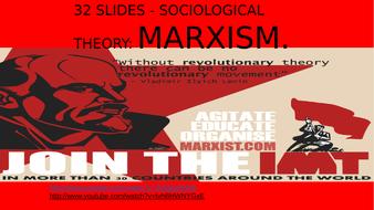SOCIOLOGY 32 SLIDES - SOCIOLOGICAL THEORY- MARXISM