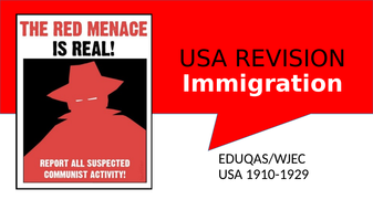 GCSE USA 1910-1929 Revision WJEC/EDUQAS
