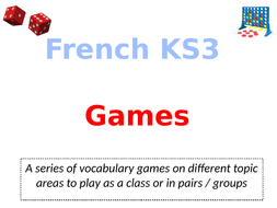 French Key Stage 3 Vocabulary Games