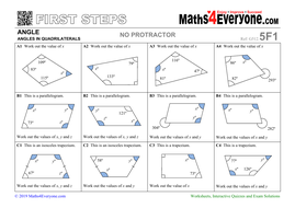 Angles in Quadrilaterals (Worksheets with Solutions ...