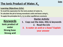 The-ionic-product-of-water.pptx