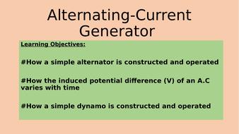 Alternating Current Generator