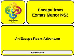 ESCAPE-ROOM-Escape-from-Exmas-Manor-KS-THREE---TEACHER.pptx