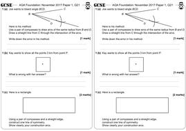 Bisectors & Loci - GCSE Questions - Foundation - AQA