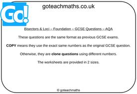 Bisectors---Loci---Foundation---GCSE-Questions---AQA.pptx
