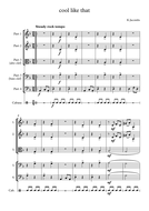 """""""COOL LIKE THAT"""" an easy, original piece for 4 instruments and simple percussion"""