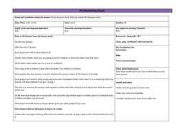 PE Orienteering lesson plan with clue ideas