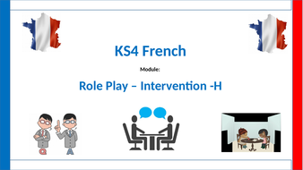 GCSE Role Play intervention lesson - used for an observation