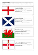 Year 1- Geography UK Flag Activity
