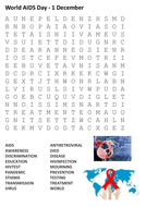 World AIDS Day Word Search