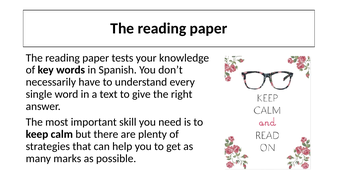 Preparation for reading paper for foundation candidates