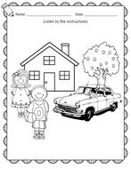 Reception / Year 1 / EFL ESL Listening worksheets - vocabulary, colours