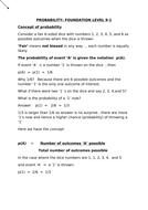 Probability Foundation Level (9-1)