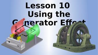 AQA Physics Using The Generator Effect Lesson