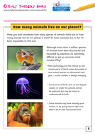 How many animals live on our planet?