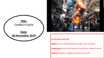 Reflecting On Conflict (PPT only)