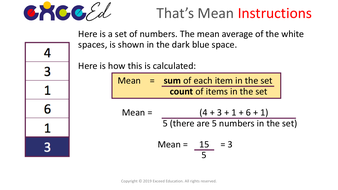 That's Mean: Mean Average 'Start the Day' Reasoning (Free)